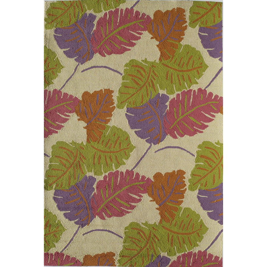 Rugs America Lenai Coral Glow Rectangular Indoor and Outdoor Hand-Hooked Area Rug (Common: 5 x 8; Actual: 60-in W x 90-in L)