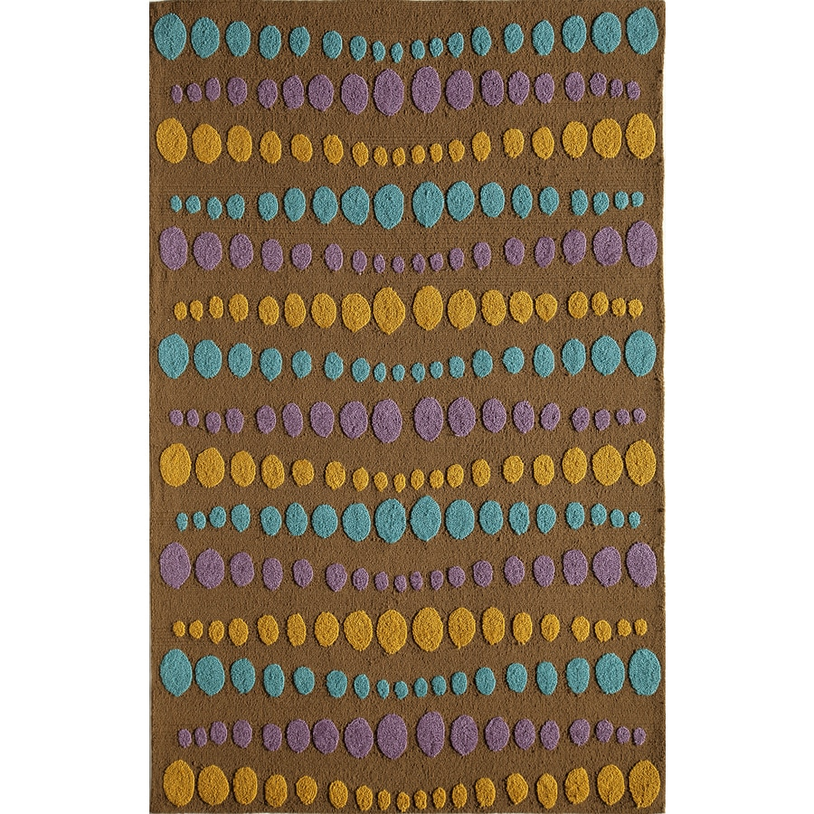 Rugs America Lenai Norwich Brown Rectangular Indoor and Outdoor Hand-Hooked Area Rug (Common: 8 x 10; Actual: 90-in W x 114-in L)