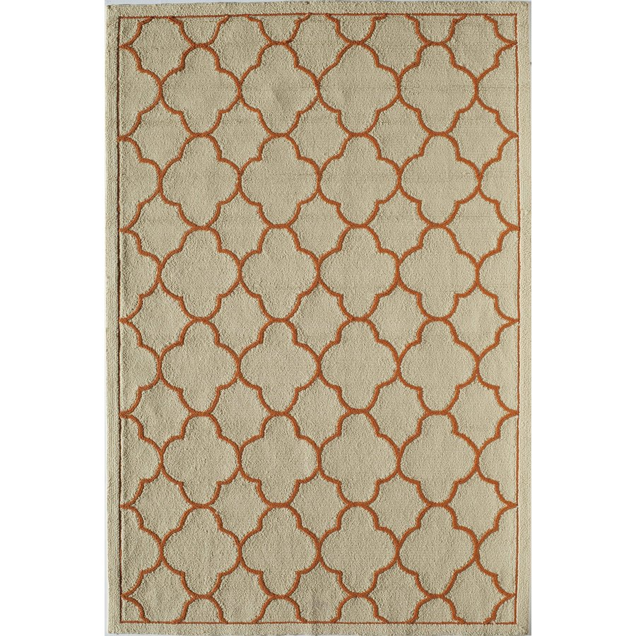 Rugs America Lenai Mango Punch Rectangular Indoor and Outdoor Hand-Hooked Area Rug (Common: 8 x 10; Actual: 90-in W x 114-in L)