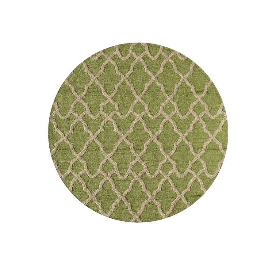 Shop Rugs America Lenai Honeydew Round Indoor Outdoor Hand