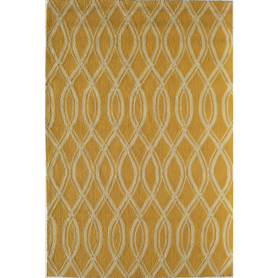 Rugs America Lenai Sunglow Rectangular Indoor and Outdoor Hand-Hooked Area Rug (Common: 5 x 8; Actual: 60-in W x 90-in L)