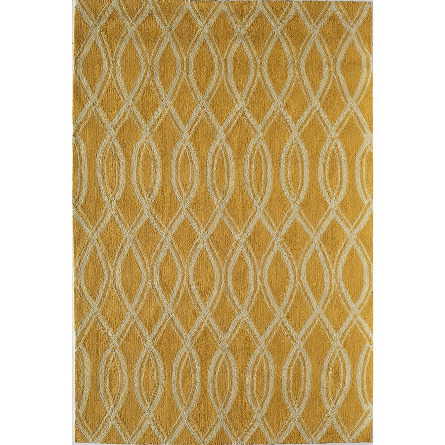 Rugs America Lenai Sunglow Rectangular Indoor and Outdoor Hand-Hooked Area Rug (Common: 8 x 10; Actual: 90-in W x 114-in L)