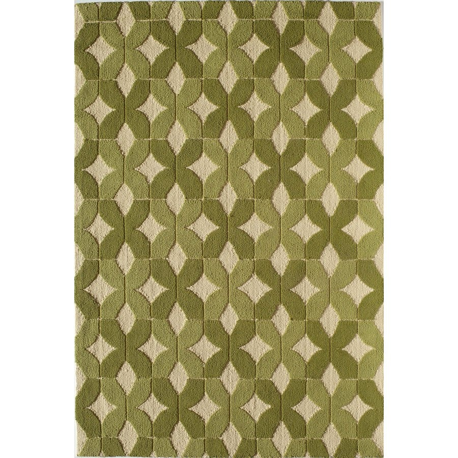 Rugs America Lenai Chamomile Rectangular Indoor and Outdoor Hand-Hooked Area Rug (Common: 5 x 8; Actual: 60-in W x 90-in L)