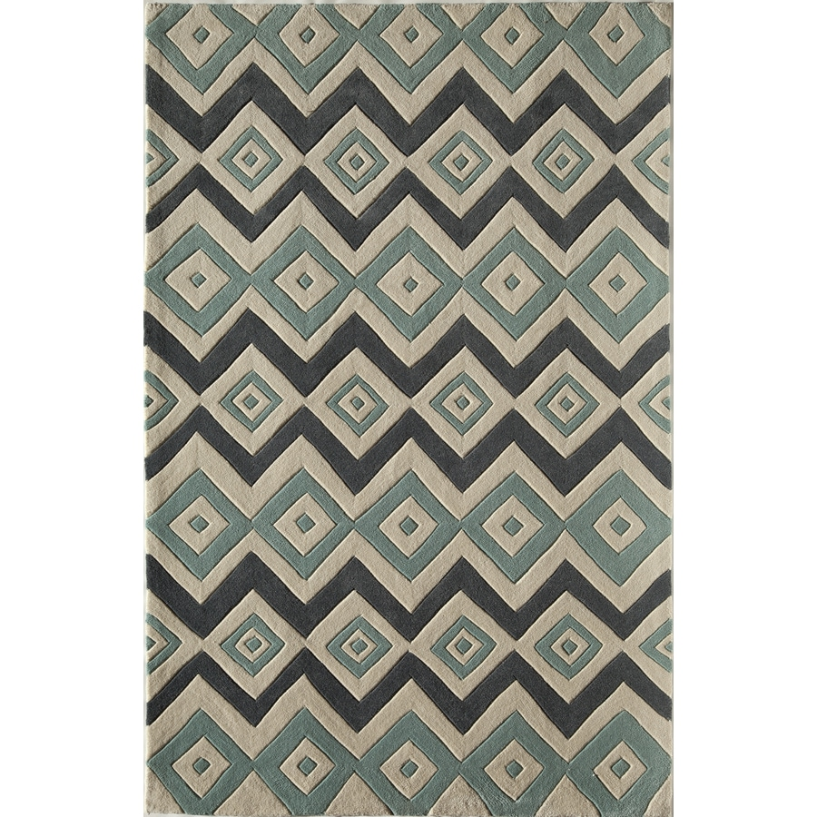 Rugs America Gramercy Biscayne Blue Rectangular Indoor Tufted Area Rug (Common: 8 x 10; Actual: 90-in W x 114-in L)