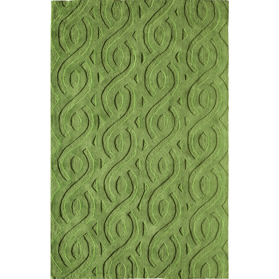 Rugs America Gramercy Chic Lime Rectangular Indoor Tufted Throw Rug (Common: 1-1 and 2 x 2-1 and 2; Actual: 18-in W x 27-in L)