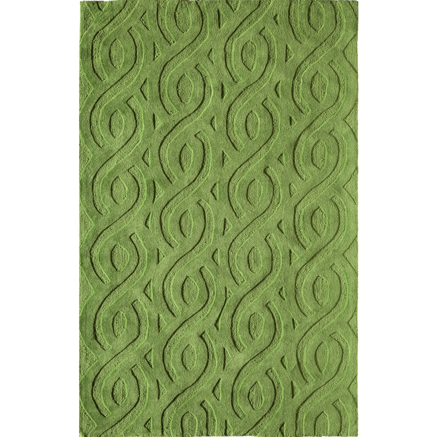 Rugs America Gramercy Chic Lime Rectangular Indoor Tufted Area Rug (Common: 8 x 10; Actual: 90-in W x 114-in L)