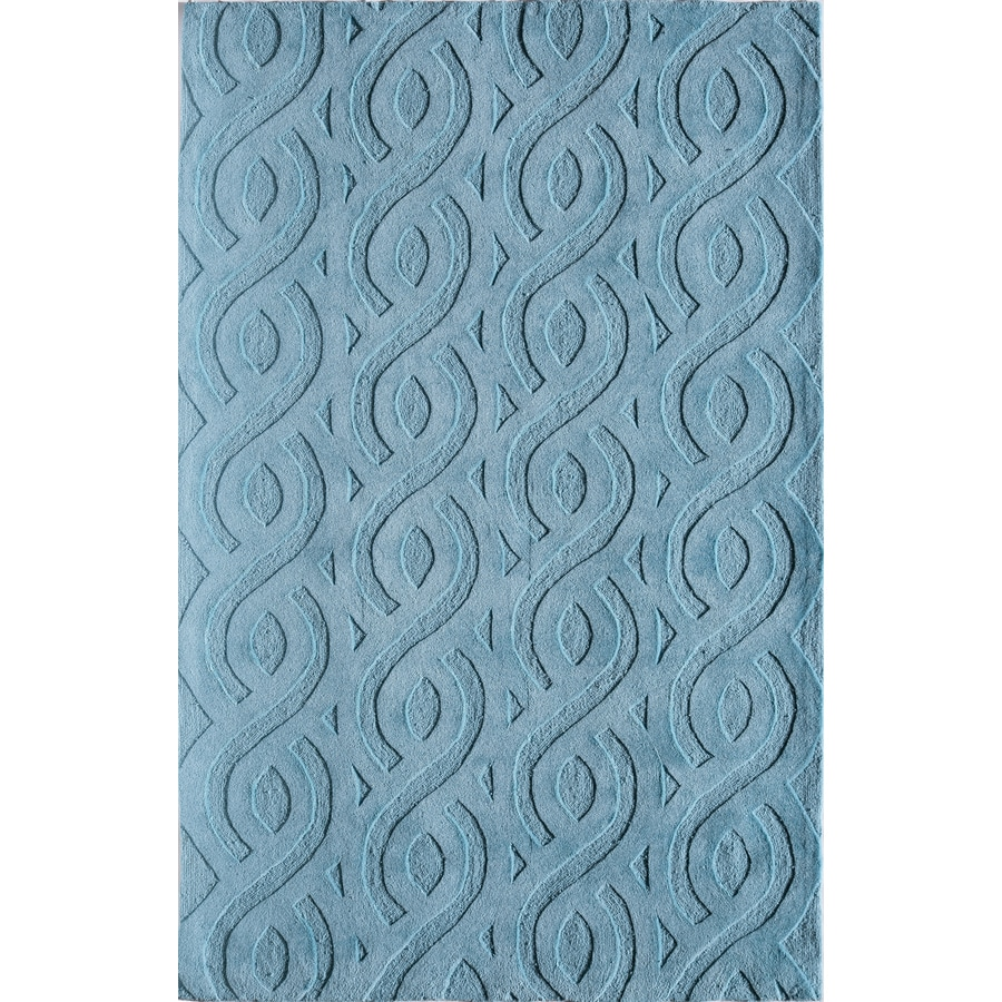Rugs America Gramercy Meridian Blue Rectangular Indoor Tufted Throw Rug (Common: 1-1 and 2 x 2-1 and 2; Actual: 18-in W x 27-in L)