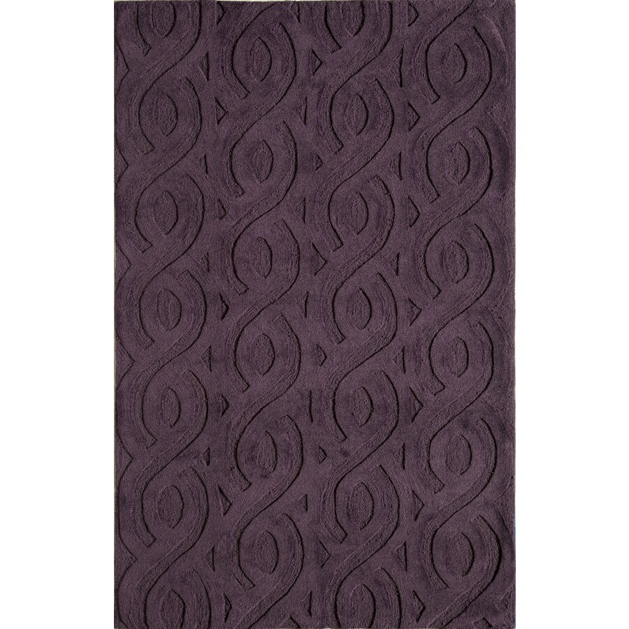 Rugs America Gramercy Eggplant Rectangular Indoor Tufted Throw Rug (Common: 1-1 and 2 x 2-1 and 2; Actual: 18-in W x 27-in L)