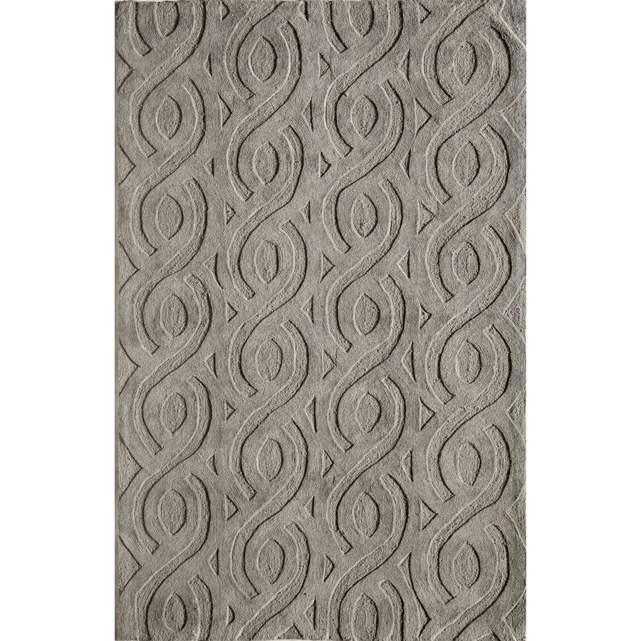 Rugs America Gramercy Graystone Rectangular Indoor Tufted Throw Rug (Common: 1-1 and 2 x 2-1 and 2; Actual: 18-in W x 27-in L)