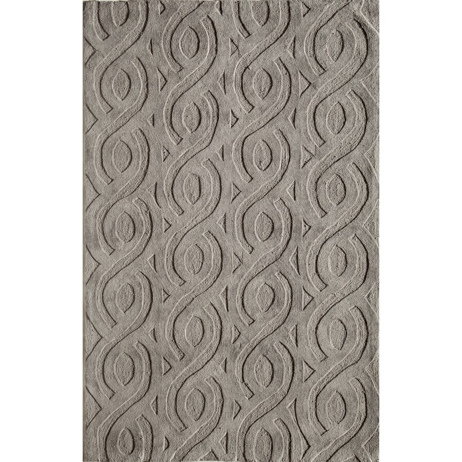 Rugs America Gramercy Graystone Rectangular Indoor Tufted Area Rug (Common: 8 x 10; Actual: 90-in W x 114-in L)