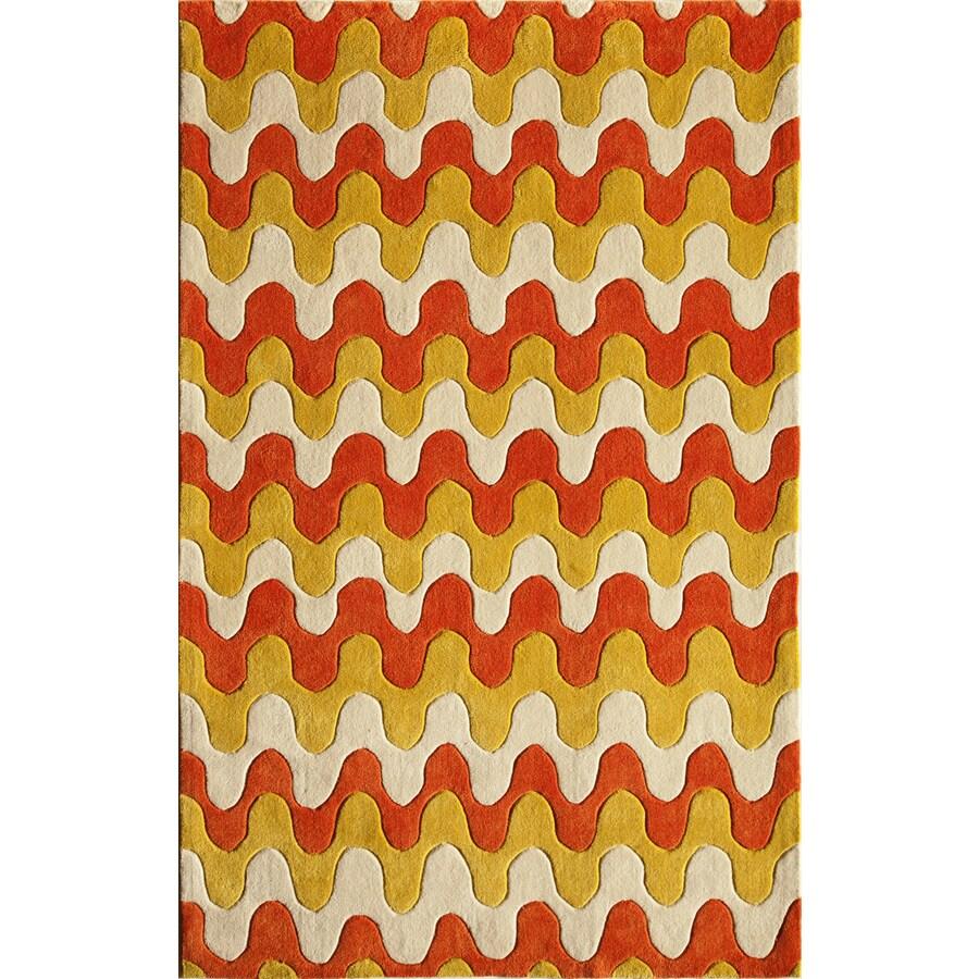 Rugs America Gramercy Golden Ridge Rectangular Indoor Tufted Area Rug (Common: 8 x 10; Actual: 90-in W x 114-in L)