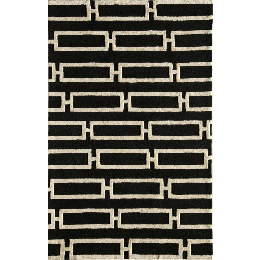 Rugs America Gramercy Midnight Twill Rectangular Indoor Tufted Area Rug (Common: 5 x 8; Actual: 60-in W x 90-in L)