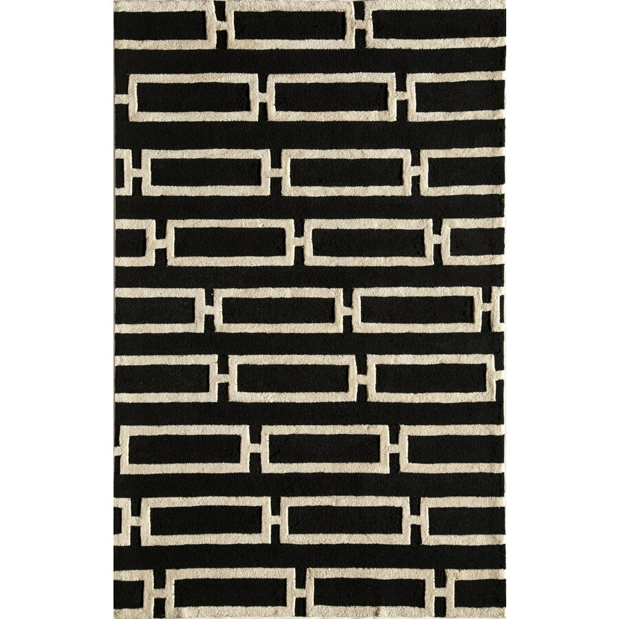 Rugs America Gramercy Midnight Twill Rectangular Indoor Tufted Area Rug (Common: 8 x 10; Actual: 90-in W x 114-in L)