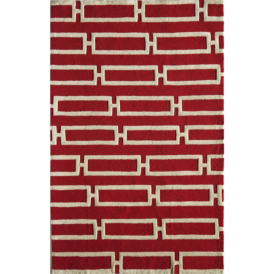 Rugs America Gramercy Cherry Twill Rectangular Indoor Tufted Throw Rug (Common: 1-1 and 2 x 2-1 and 2; Actual: 18-in W x 27-in L)