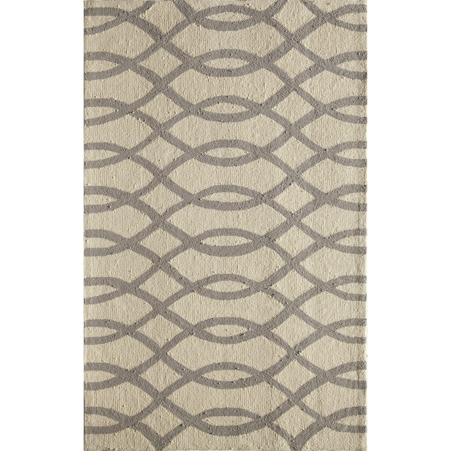 Rugs America Gramercy Wavy Gray Rectangular Indoor Tufted Throw Rug (Common: 1-1 and 2 x 2-1 and 2; Actual: 18-in W x 27-in L)