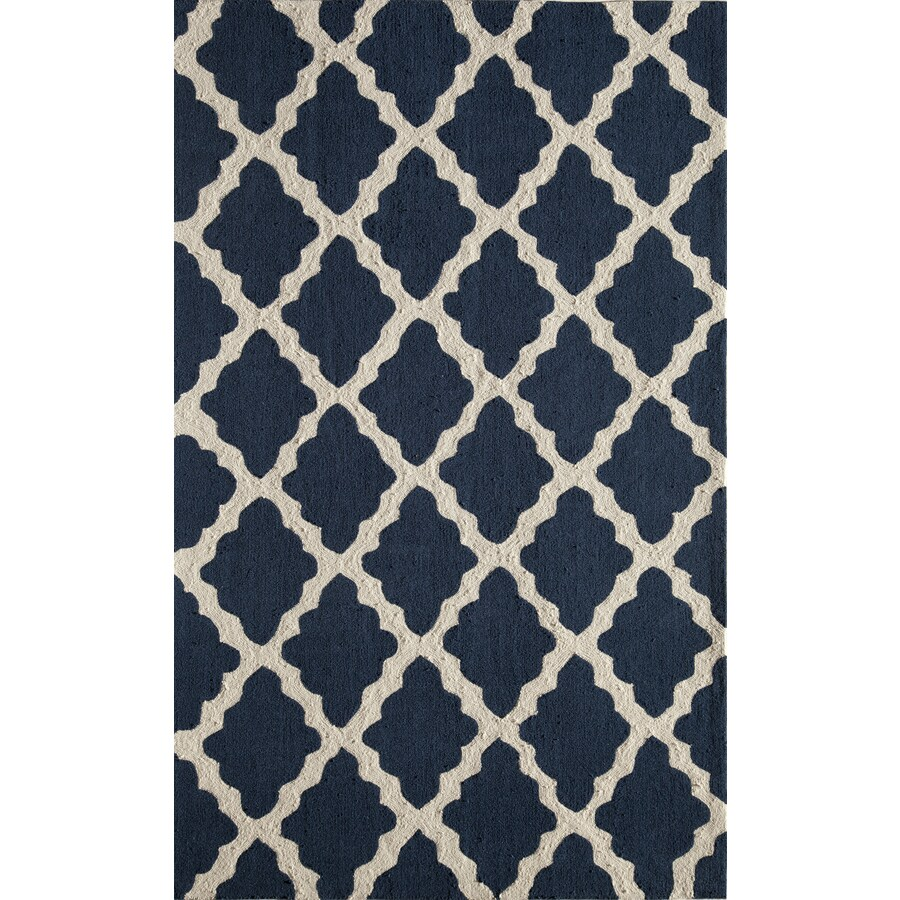 Rugs America Gramercy Blue Jean Rectangular Indoor Tufted Area Rug (Common: 5 x 8; Actual: 60-in W x 90-in L)
