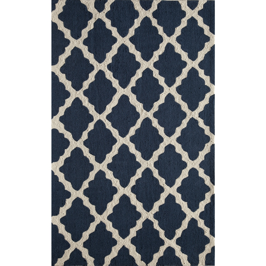 Rugs America Gramercy Blue Jean Rectangular Indoor Tufted Area Rug (Common: 8 x 10; Actual: 90-in W x 114-in L)