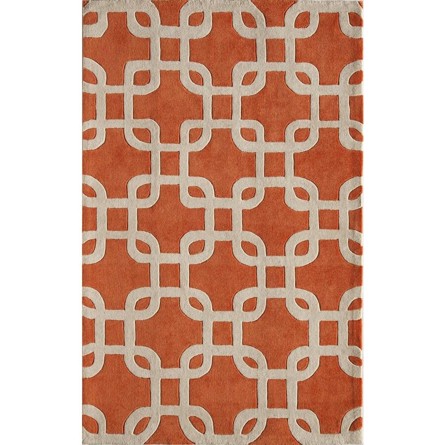 Rugs America Gramercy Tangerine Tango Rectangular Indoor Tufted Area Rug (Common: 8 x 10; Actual: 90-in W x 114-in L)