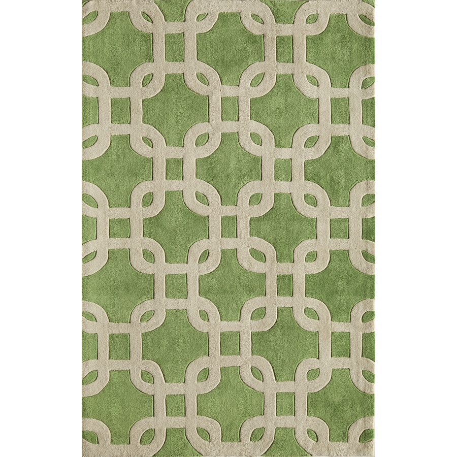 Rugs America Gramercy Citron Green Rectangular Indoor Tufted Area Rug (Common: 8 x 10; Actual: 90-in W x 114-in L)