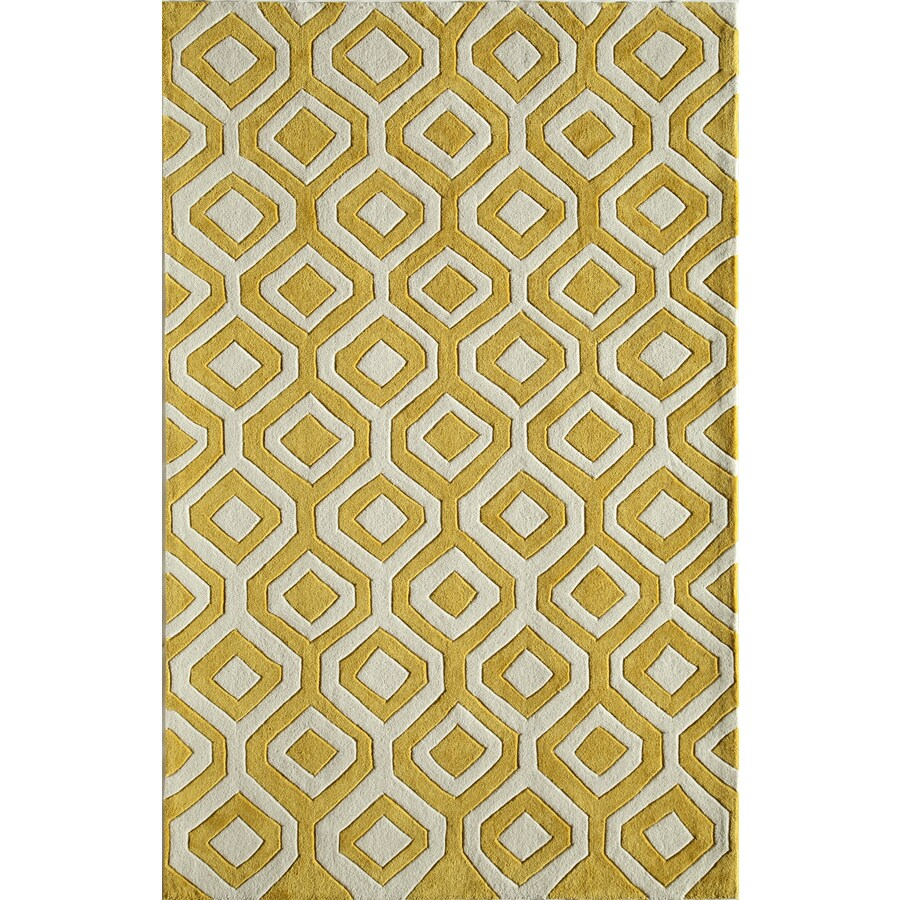 Rugs America Gramercy Limon Yellow Rectangular Indoor Tufted Area Rug (Common: 8 x 10; Actual: 90-in W x 114-in L)