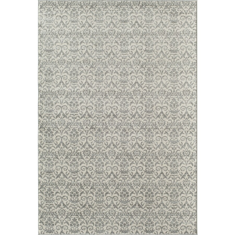 Rugs America Carmen White Wash Rectangular Indoor Woven Area Rug (Common: 5 x 8; Actual: 63-in W x 94-in L)