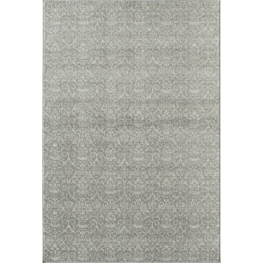 Rugs America Carmen Storm Grey Rectangular Indoor Woven Area Rug (Common: 5 x 8; Actual: 63-in W x 94-in L)