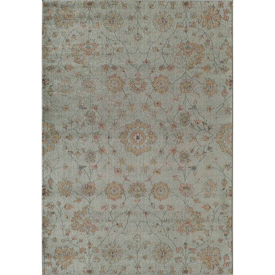 Rugs America Rallye Powder Blue Rectangular Indoor Woven Area Rug (Common: 4 x 6; Actual: 47-in W x 63-in L)