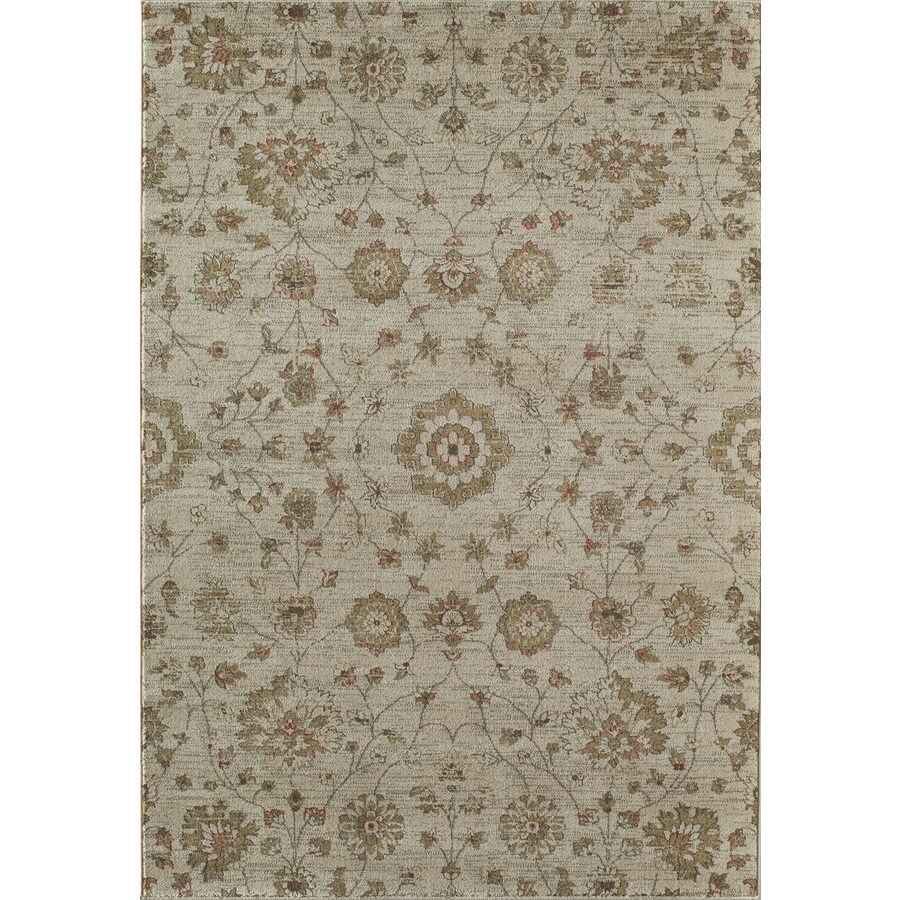 Rugs America Rallye Wheat Rectangular Indoor Woven Area Rug (Common: 4 x 6; Actual: 47-in W x 63-in L)