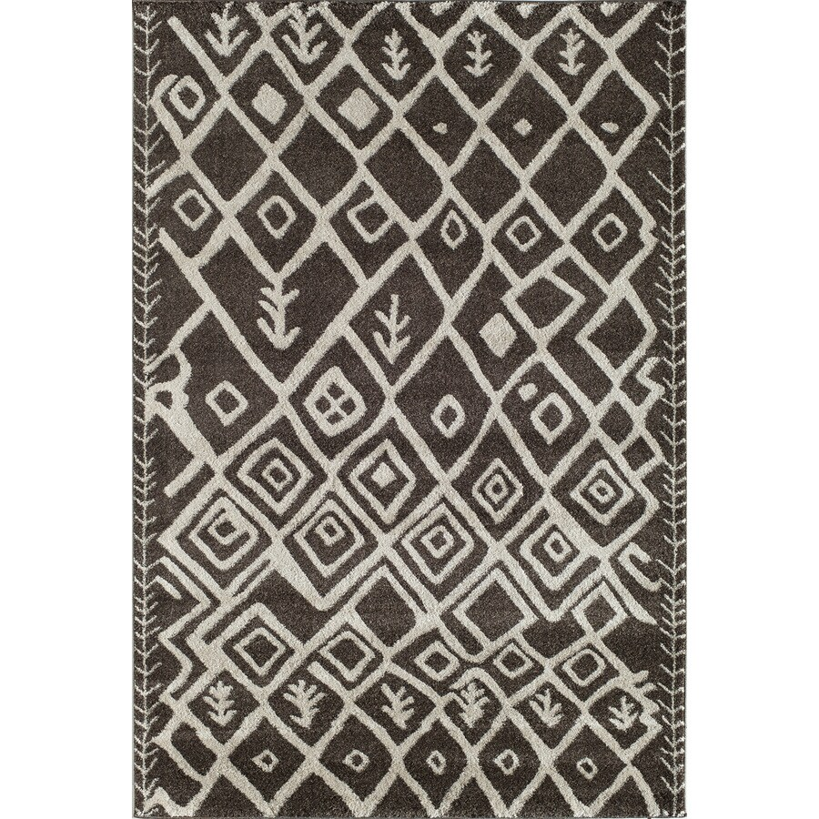 Rugs America Tangier Brown Rectangular Indoor Woven Throw Rug (Common: 2 x 3; Actual: 24-in W x 35-in L)