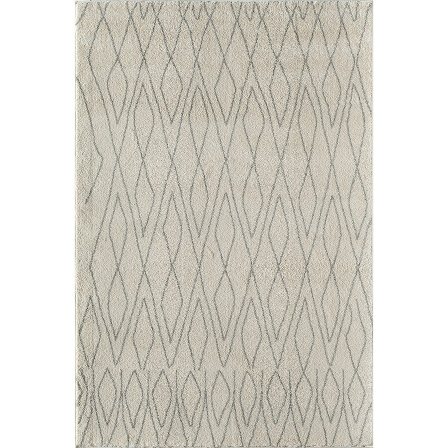 Rugs America Tangier Ivory Rectangular Indoor Woven Area Rug (Common: 4 x 6; Actual: 47-in W x 63-in L)