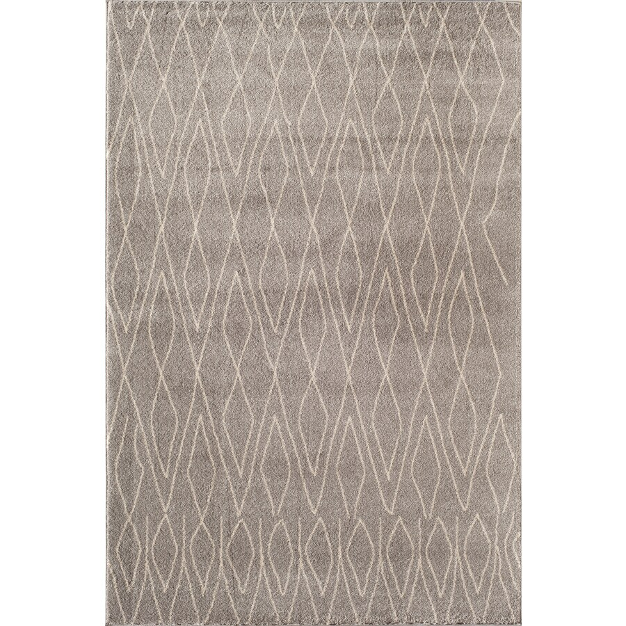 Rugs America Tangier Light Gray Rectangular Indoor Woven Area Rug (Common: 4 x 6; Actual: 47-in W x 63-in L)