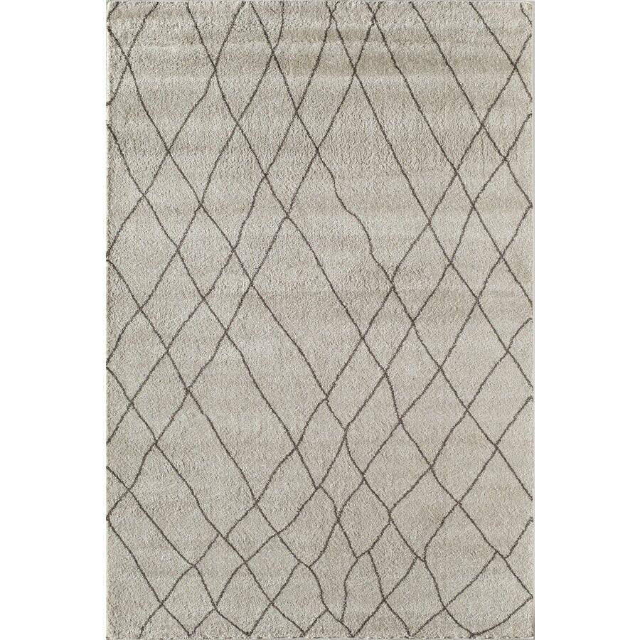 Rugs America Tangier Beige Rectangular Indoor Woven Area Rug (Common: 8 x 11; Actual: 94-in W x 130-in L)