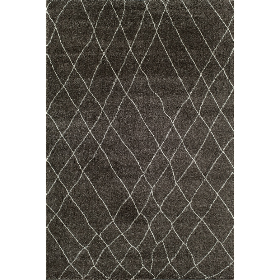 Rugs America Tangier Bistre Brown Rectangular Indoor Woven Area Rug (Common: 8 x 11; Actual: 94-in W x 130-in L)