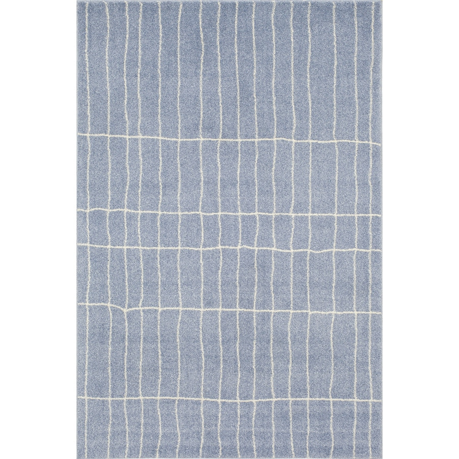 Shop Rugs America Tangier Blue Rectangular Indoor Woven
