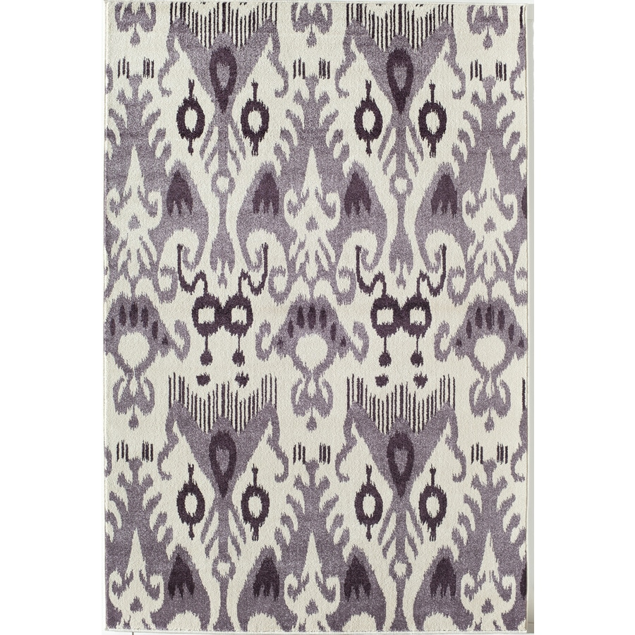 Rugs America Taza Lilac Rectangular Indoor Woven Area Rug (Common: 8 x 11; Actual: 94-in W x 130-in L)