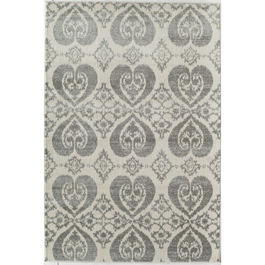 Rugs America Taza Gray Rectangular Indoor Woven Area Rug (Common: 8 x 11; Actual: 94-in W x 130-in L)