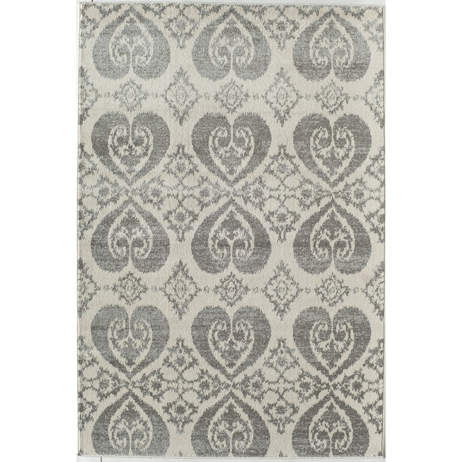 Rugs America Taza Gray Rectangular Indoor Woven Throw Rug (Common: 2 x 3; Actual: 24-in W x 35-in L)