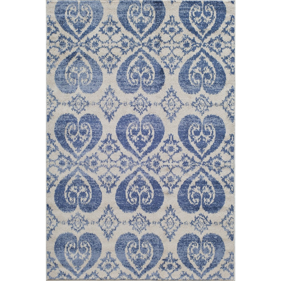 Rugs America Taza Blue Rectangular Indoor Woven Area Rug (Common: 5 x 8; Actual: 63-in W x 94-in L)