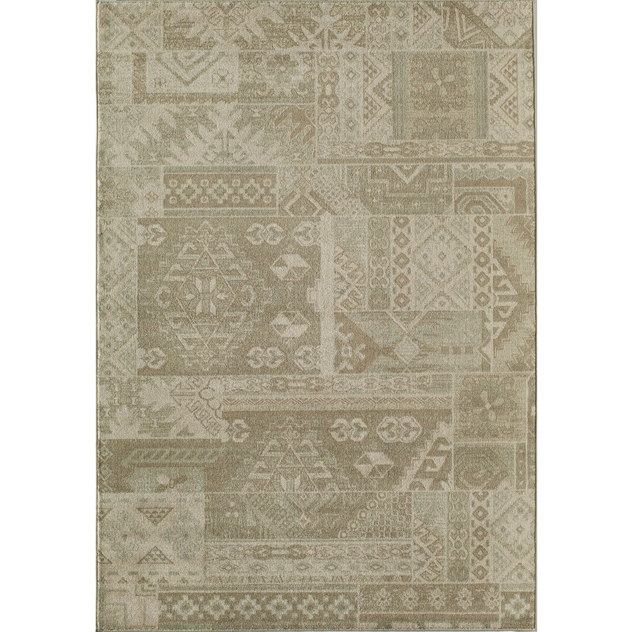 Shop rugs america ziegler patchwork rectangular indoor for Area rug sizes