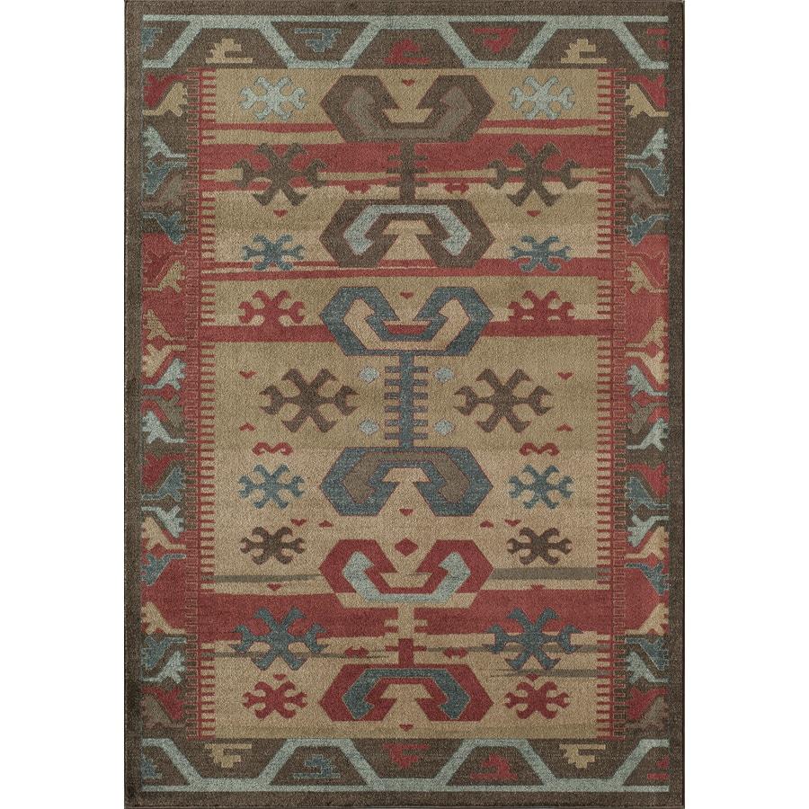 Rugs America Ziegler Brown Rectangular Indoor Woven Area Rug (Common: 8 x 11; Actual: 94-in W x 130-in L)