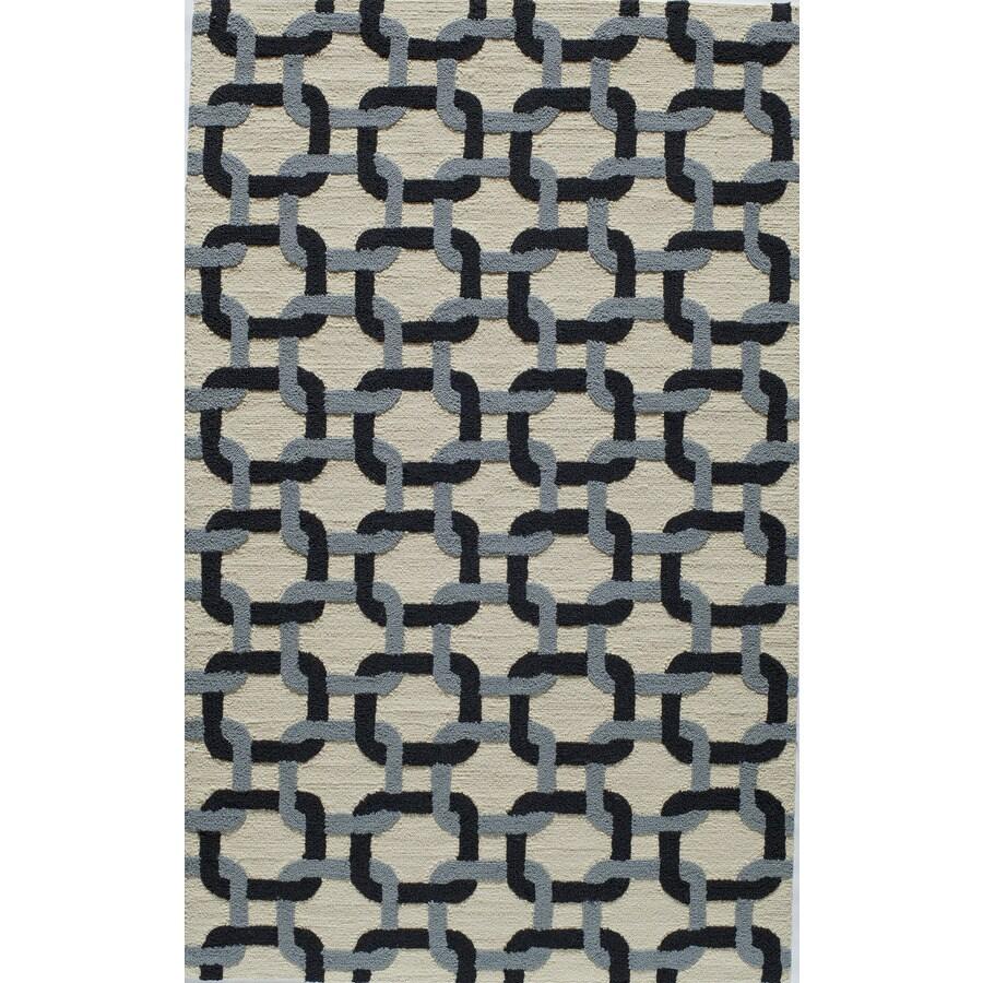 Rugs America Veranda Carbon Rectangular Indoor Tufted Area Rug (Common: 5 x 8; Actual: 60-in W x 96-in L)