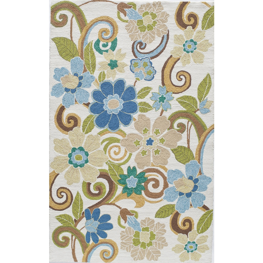Rugs America Veranda Jade Rectangular Indoor Tufted Area Rug (Common: 8 x 10; Actual: 96-in W x 120-in L)