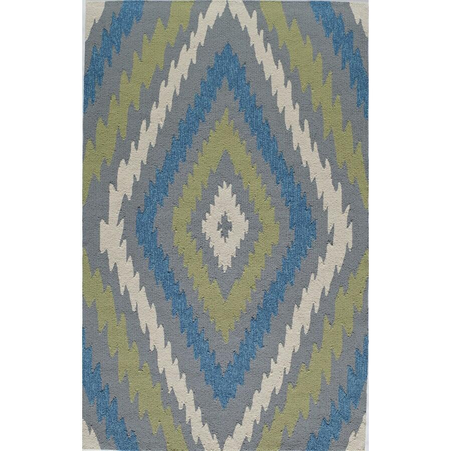 Rugs America Veranda Pearl Rectangular Indoor Tufted Area Rug (Common: 8 x 10; Actual: 96-in W x 120-in L)