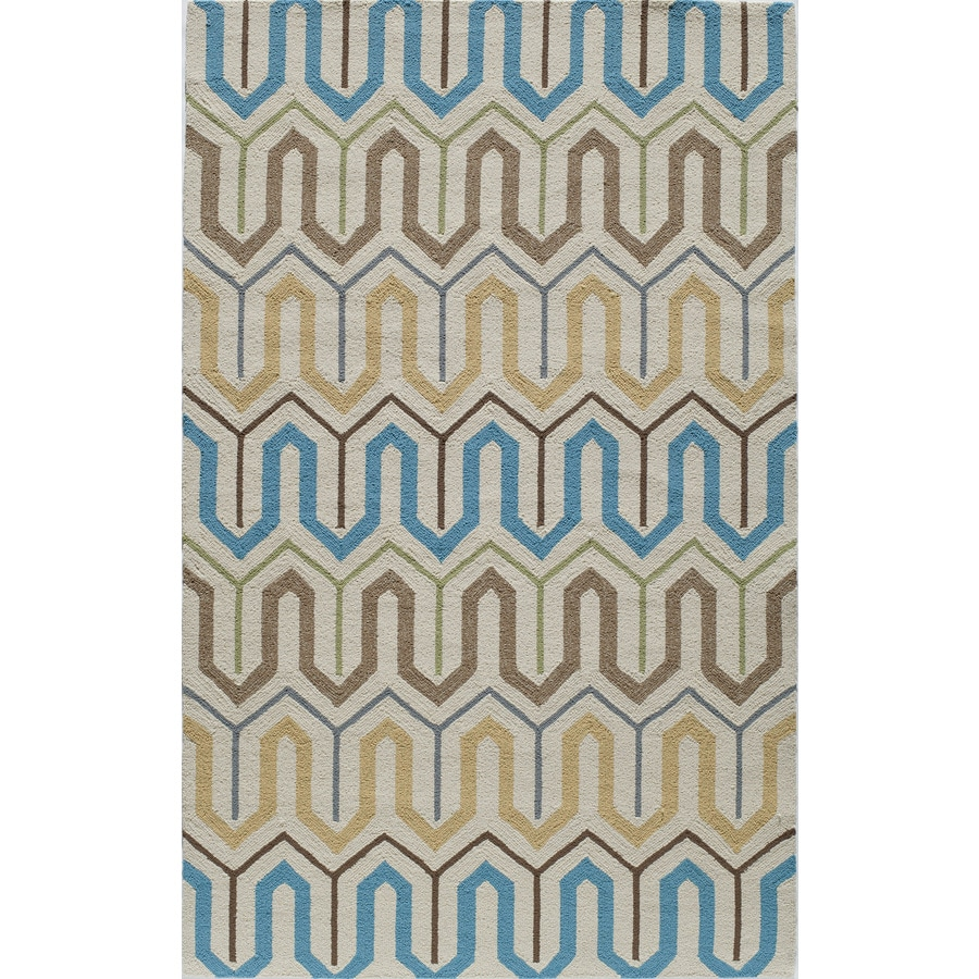 Rugs America Veranda Citrine Rectangular Indoor Tufted Area Rug (Common: 8 x 10; Actual: 96-in W x 120-in L)