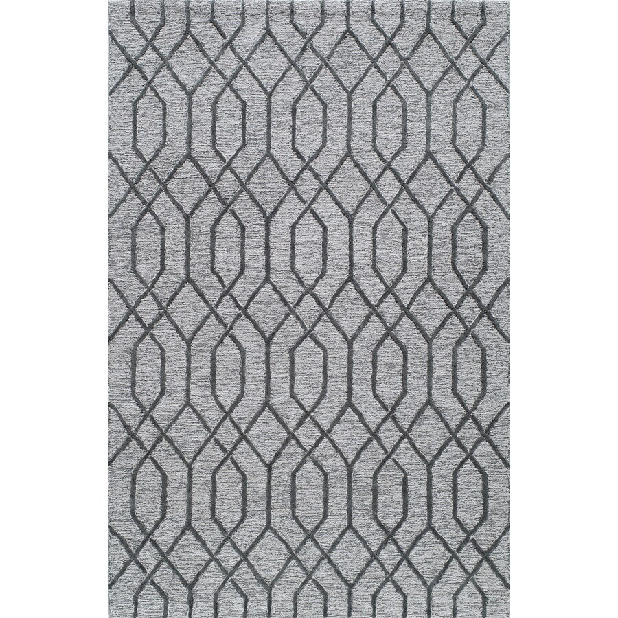 Rugs America Madison Pewter Gray Rectangular Indoor Tufted Area Rug (Common: 5 x 8; Actual: 60-in W x 96-in L)
