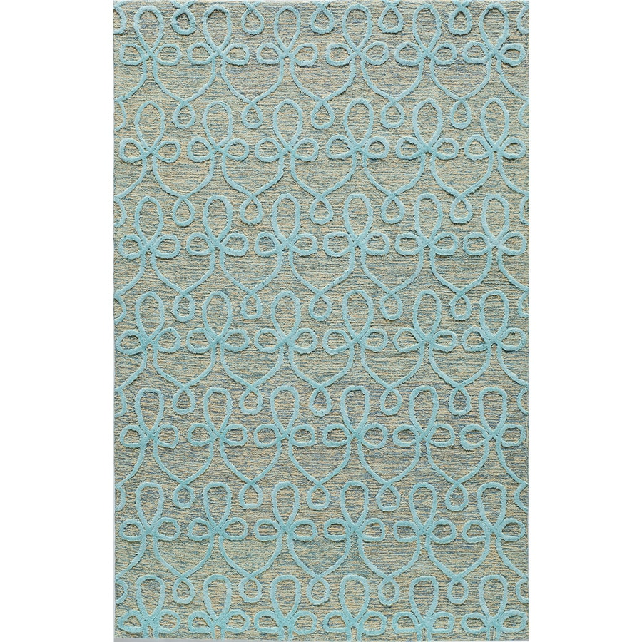 Rugs America Madison Blue Grotto Rectangular Indoor Tufted Area Rug (Common: 8 x 10; Actual: 96-in W x 120-in L)