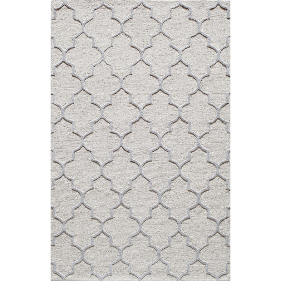 Rugs America Soho White Arbor Rectangular Indoor Tufted Area Rug (Common: 8 x 10; Actual: 96-in W x 120-in L)