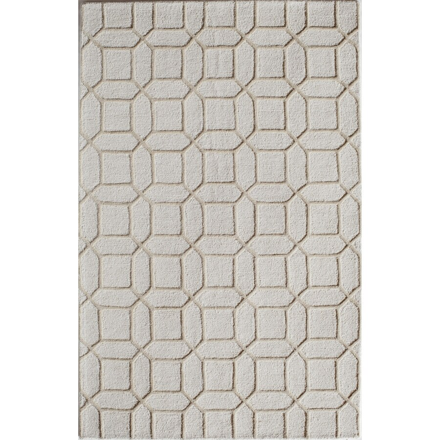 Rugs America Soho Crisp Tan Rectangular Indoor Tufted Area Rug (Common: 8 x 10; Actual: 96-in W x 120-in L)
