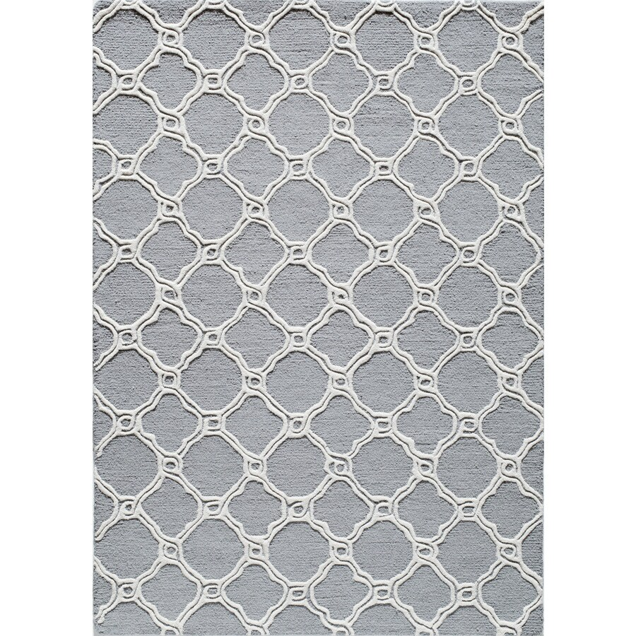 Rugs America Soho Coastal Slate Rectangular Indoor Tufted Area Rug (Common: 8 x 10; Actual: 96-in W x 120-in L)