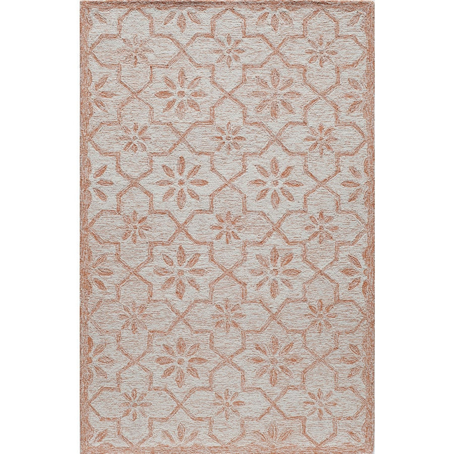 Rugs America Cortland Ginger Rectangular Indoor Tufted Area Rug (Common: 8 x 10; Actual: 96-in W x 120-in L)